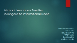 Major International Treaties PowerPoint PPT Presentation