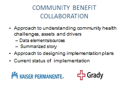 COMMUNITY BENEFIT COLLABORATION