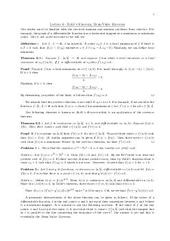 Lecture   Rolles Theorem Mean Value Theorem The reader must be familiar with the classical maxima and minima problems from calculus