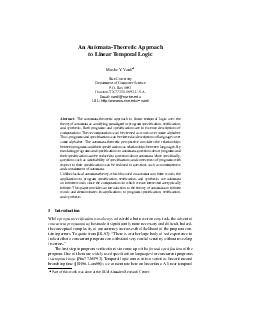 An AutomataTheoretic Approach to Linear Temporal Logic Moshe Y PowerPoint PPT Presentation