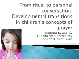 From ritual to personal conversation: PowerPoint PPT Presentation