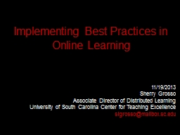 Implementing Best Practices in Online Learning