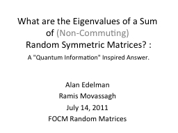 What are the Eigenvalues of a Sum of