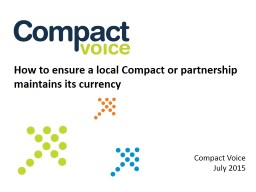 How to ensure a local Compact or partnership maintains its