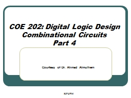 COE 202: Digital Logic Design PowerPoint Presentation, PPT - DocSlides
