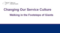 Changing Our Service Culture