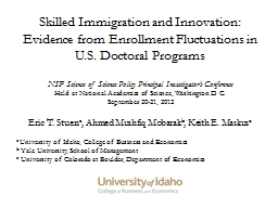 Skilled Immigration and Innovation: Evidence from Enrollmen