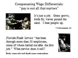 Compensating Wage