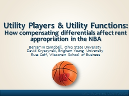 Utility Players PowerPoint PPT Presentation