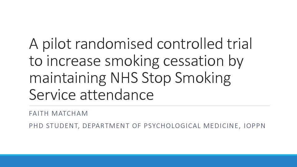 A pilot randomised controlled trial
