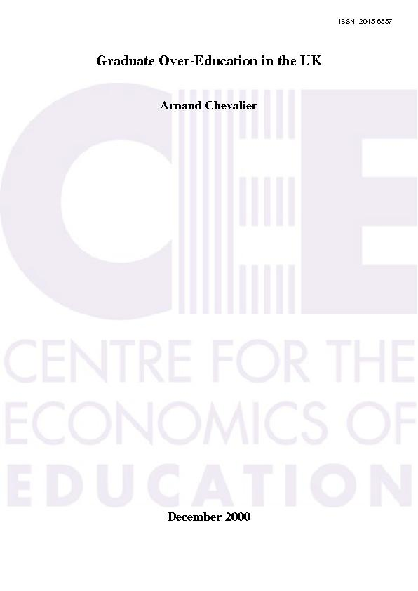 22   CENTRE FOR THE ECONOMICS OF EDUCATION  Recent Discussion Papers
