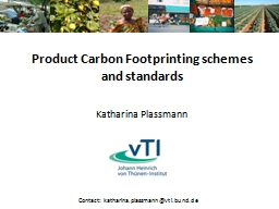 Product Carbon Footprinting schemes