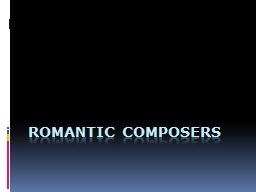 Romantic Composers PowerPoint PPT Presentation