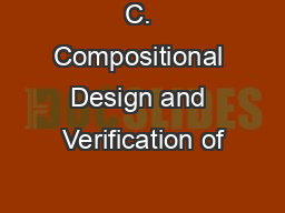 C. Compositional Design and Verification of