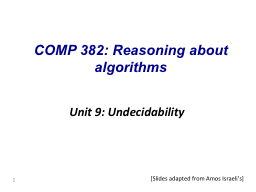 1 COMP 382: Reasoning about algorithms