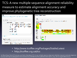 TCS: A new multiple sequence alignment reliability measure