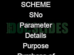 MAHA SUPER CAR LOAN SCHEME SNo Parameter Details Purpose Purchase of New four Wh