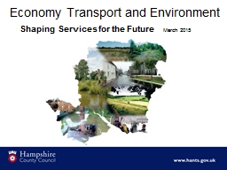 Economy Transport and Environment PowerPoint PPT Presentation