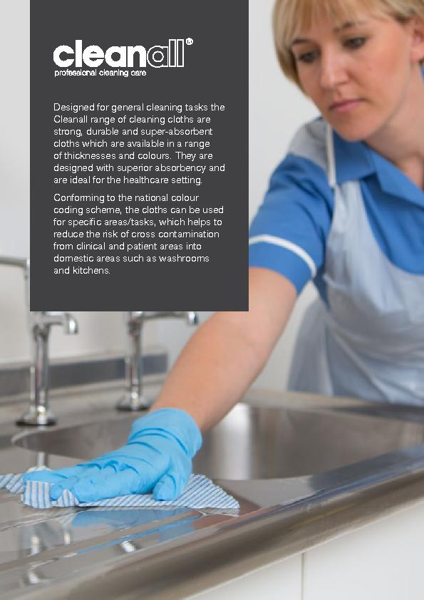 Designed for general cleaning tasks the Cleanall range of cleaning clo
