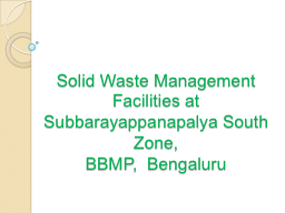 Solid Waste Management Facilities at
