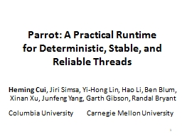 Parrot: A Practical Runtime