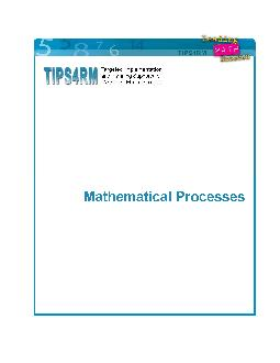 TIPSRM Mathematical Processes  Mathematical Processes Problem Solving Reasoning and Proving Reflecting Selecting Tools and Com putational Strategies Connecting Representing Communicating Context Why PowerPoint PPT Presentation