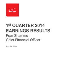 st QUARTER  EARNINGS RESULTS  Safe Harbor Statement  Q  EPS Note Results above are adjusted for nonoperati onal items