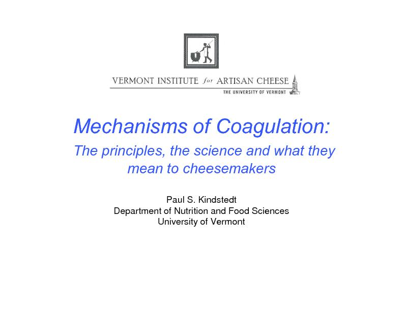 Mechanisms of Coagulation: