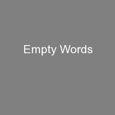 Empty Words PowerPoint PPT Presentation