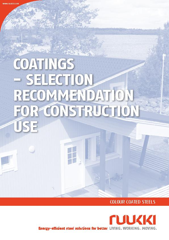 COATINGS  SELECTION RECOMMENDATION FOR CONSTRUCTION USE