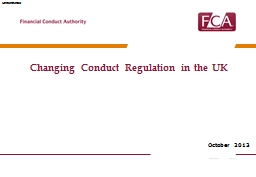 Changing Conduct Regulation in the