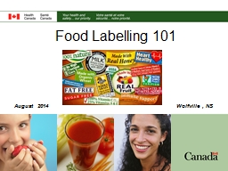 Food Labelling 101