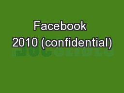Facebook 2010 (confidential)