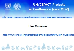 UN/CEFACT Projects