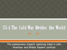 33-4 The Cold War Divides the World