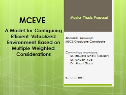 A Model for Configuring Efficient Virtualized Environment B
