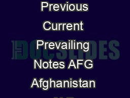 Valid as of Country Name  Previous Current Prevailing Notes AFG Afghanistan ALB  PDF document - DocSlides