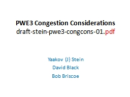 PWE3 Congestion Considerations