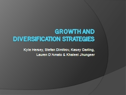 Strategy for growth and diversification