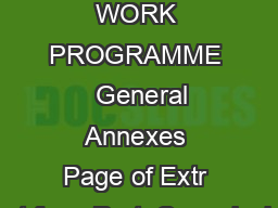 HORIZON   WORK PROGRAMME   General Annexes Page of Extr act from Part  Commissio