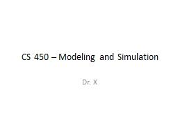 CS 450 – Modeling and Simulation