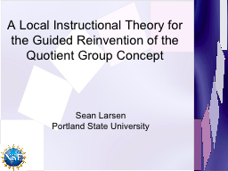 A Local Instructional Theory for the Guided Reinvention of