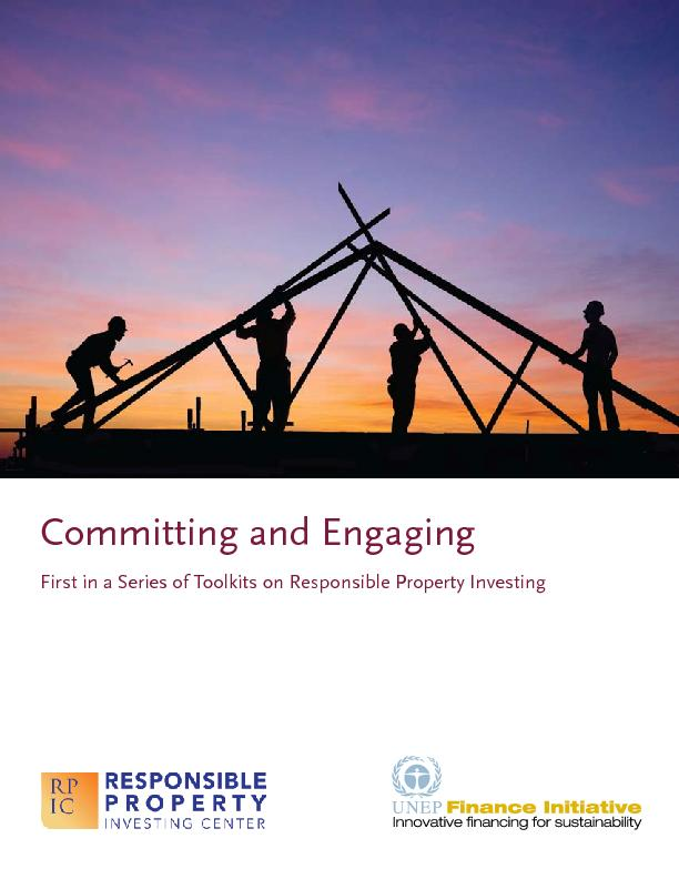 Committing and Engaging First in a Series of Toolkits on Responsible P