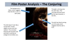 Film Poster Analysis – The Conjuring