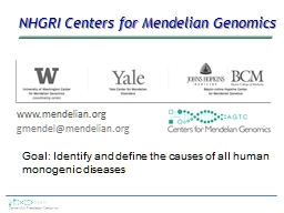 NHGRI Centers for