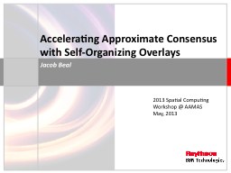 Accelerating Approximate Consensus with Self-Organizing Ove