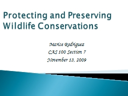 Protecting and Preserving