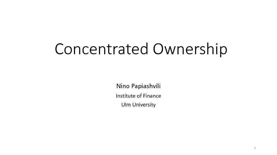 Concentrated Ownership