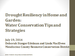 Drought Resiliency in Home and Garden: