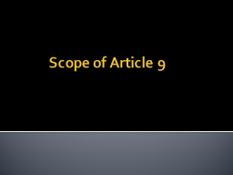 Scope of Article 9